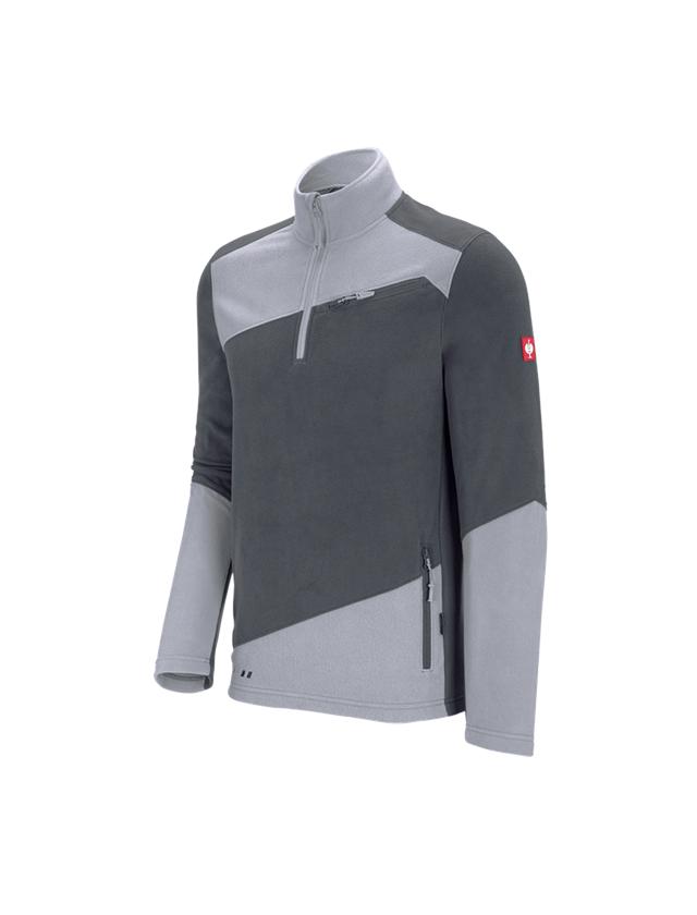 Bovenkleding: Fleece schipperstrui e.s.motion 2020 + antraciet/platina