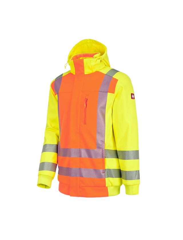 Werkjassen: Veiligheids winter-softshelljack e.s.motion 2020 + signaaloranje/signaalgeel