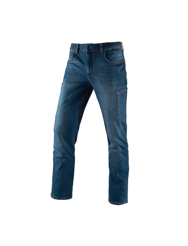 Werkbroeken: e.s. 7-pocket-jeans + stonewashed