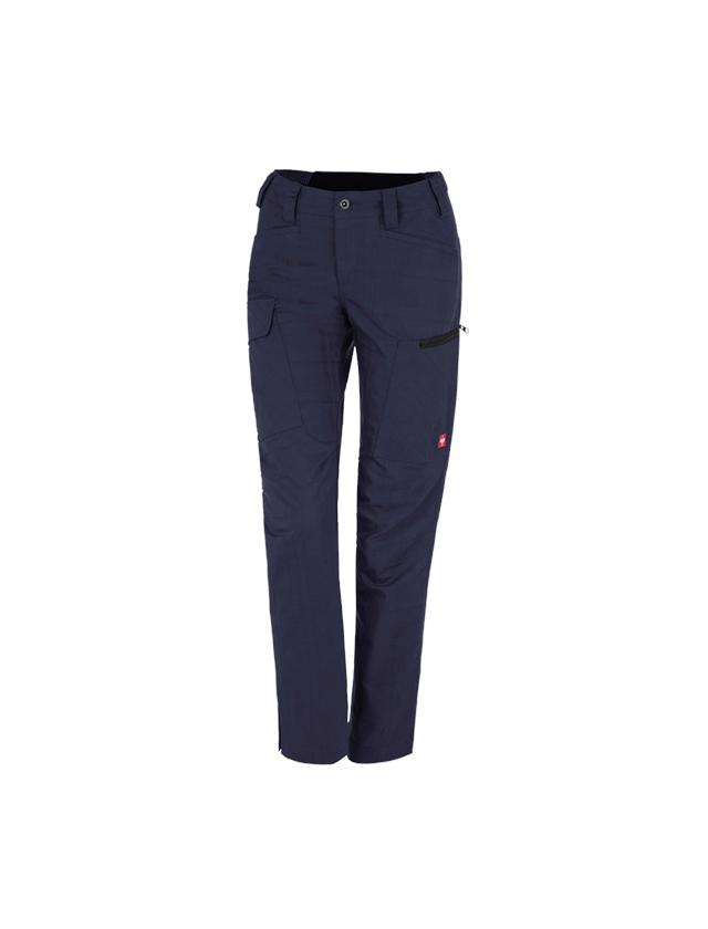 Werkbroeken: e.s. Werkbroek pocket, dames + donkerblauw