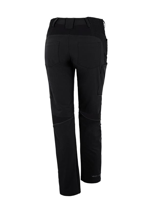 Werkbroeken: Wintercargobroek e.s.vision stretch, dames + zwart 1