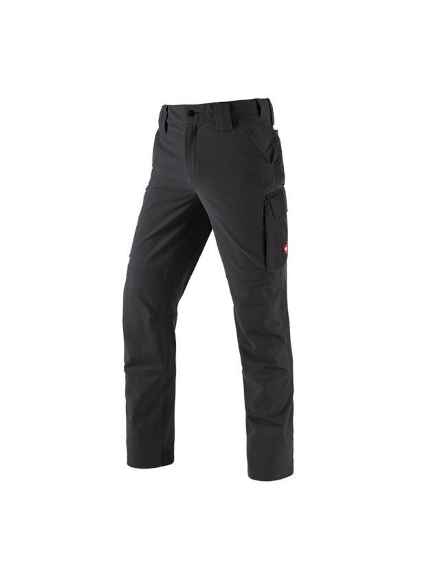 Werkbroeken: Winter functioneel cargobroek e.s.dynashield solid + zwart