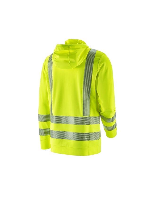 Bovenkleding: e.s. functionele waarschuwings hoody-longsleeve UV + signaalgeel 1