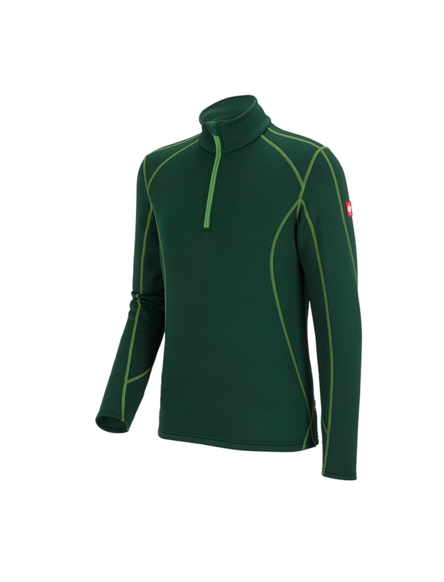 Bovenkleding: Schipperstrui thermo stretch e.s.motion 2020 + groen/zeegroen