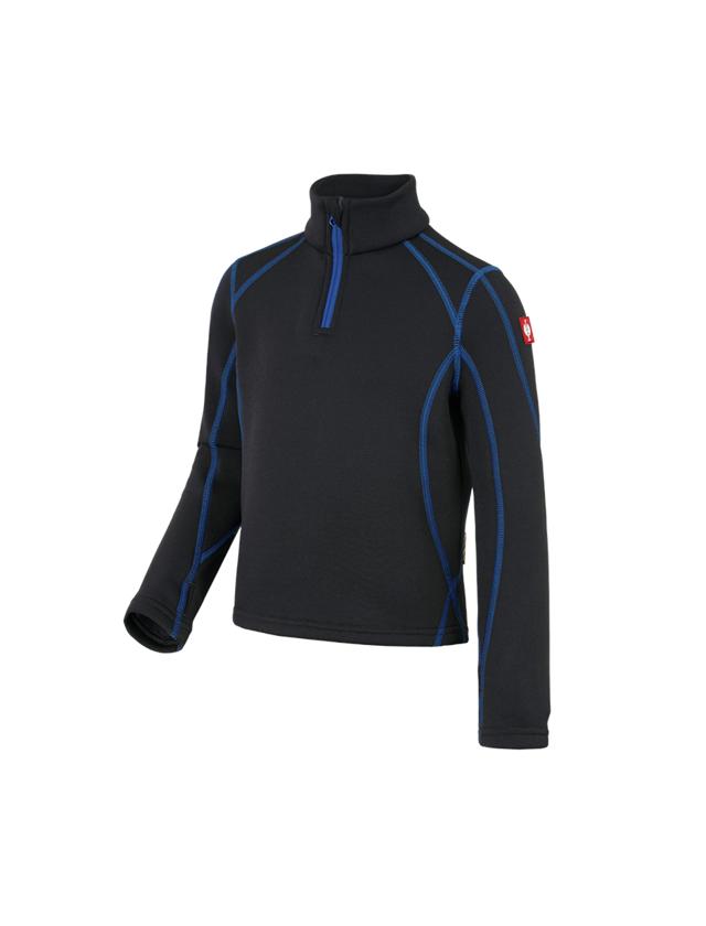 Bovenkleding: Schipperstrui thermo stretch e.s.motion 2020,kind. + grafiet/gentiaanblauw