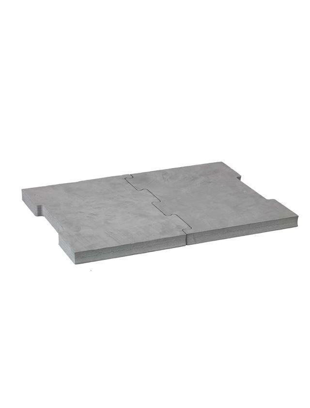 Gereedschapskoffers: e.s. Zitkussen + grijs