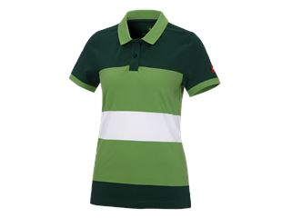 e.s. Pique-Polo cotton stripe, dames
