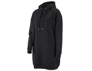 e.s. oversize hoody-sweatshirt poly cotton, dames