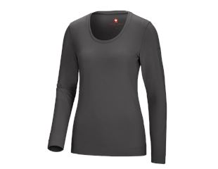 Longsleeve cotton stretch, dames