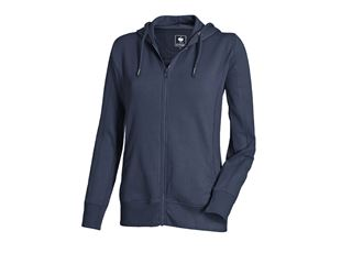 Hoody-Sweatjack poly cotton, dames