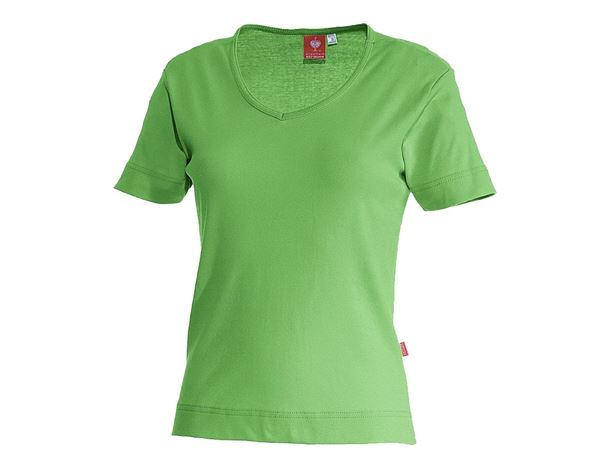 Bovenkleding: e.s. T-Shirt cotton V-Neck, dames + appelgroen