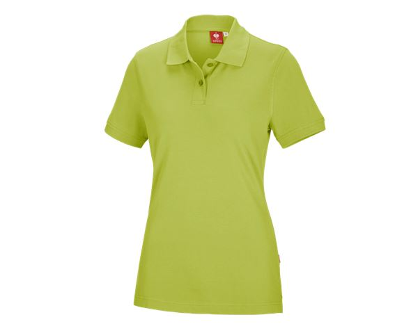 Bovenkleding: e.s. Polo-Shirt cotton, dames + meigroen
