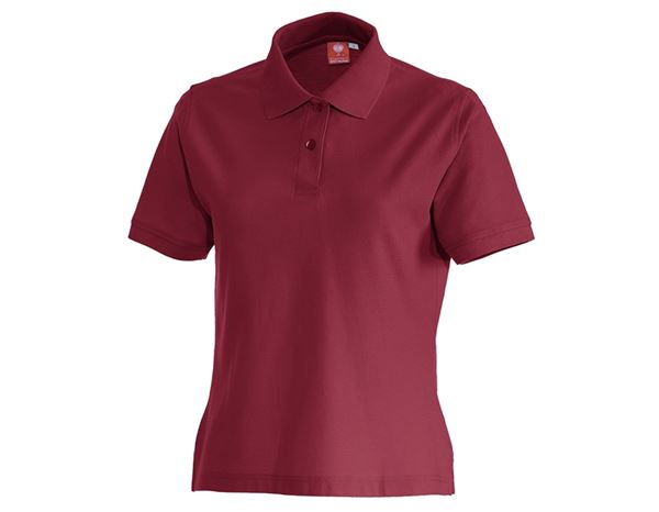 Bovenkleding: e.s. Polo-Shirt cotton, dames + bordeaux