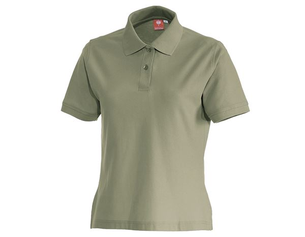 Bovenkleding: e.s. Polo-Shirt cotton, dames + riet