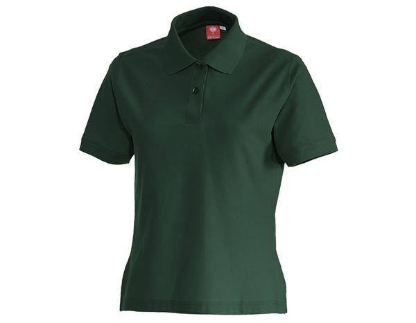 Bovenkleding: e.s. Polo-Shirt cotton, dames + groen