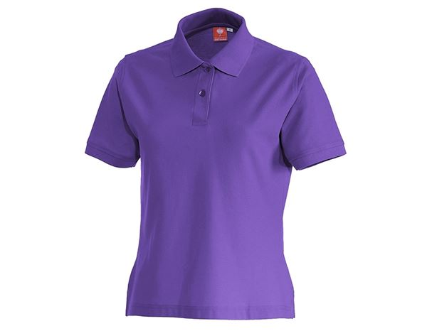 Bovenkleding: e.s. Polo-Shirt cotton, dames + lilas