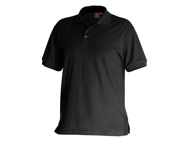 Poloshirts: e.s. Polo-Shirt cotton + zwart