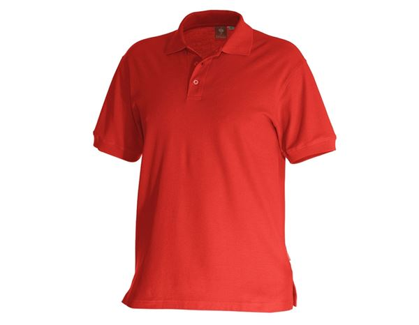 Bovenkleding: e.s. Polo-Shirt cotton + vuurrood