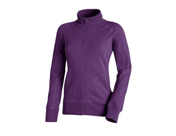 Bovenkleding: e.s. Sweatjack poly cotton, dames + violet