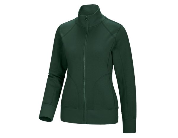 Bovenkleding: e.s. Sweatjack poly cotton, dames + groen