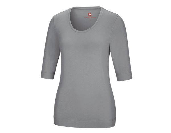 Bovenkleding: e.s. Shirt 3/4-mouw cotton stretch, dames + platina