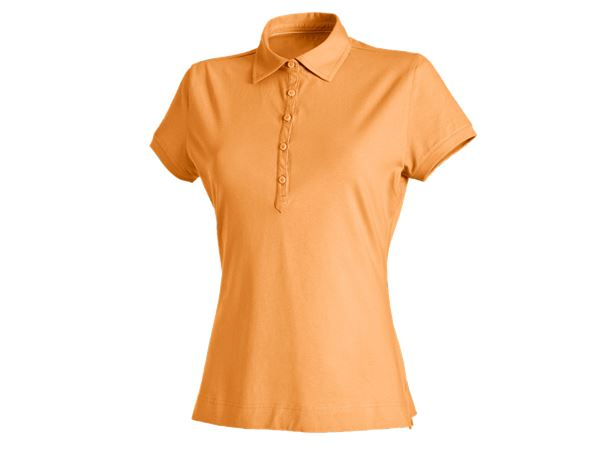 Bovenkleding: e.s. Polo-Shirt cotton stretch, dames + licht oranje