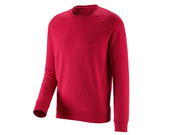 Bovenkleding: e.s. Sweatshirt cotton stretch + vuurrood