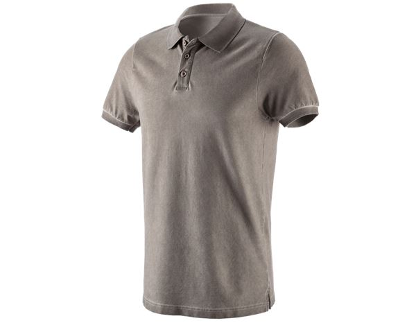 Bovenkleding: e.s. Polo-Shirt vintage cotton stretch + taupe vintage