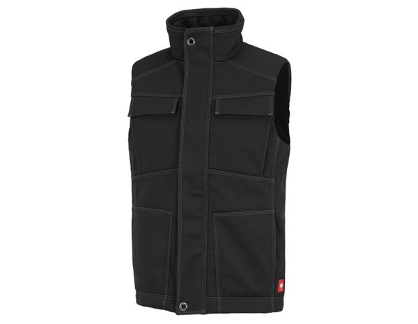 Werkvesten: Winter-softshellbodywarmer e.s.roughtough + zwart