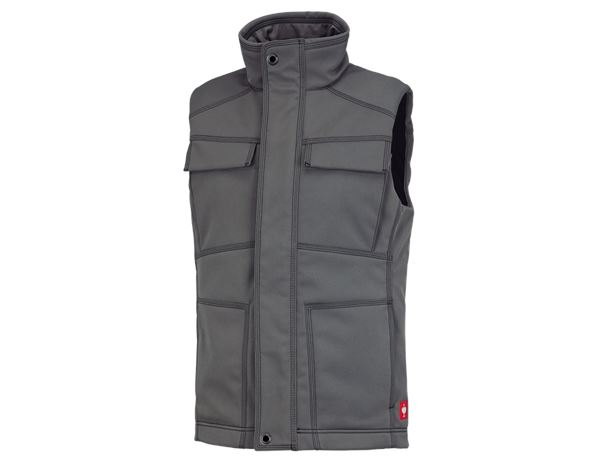 Werkvesten: Winter-softshellbodywarmer e.s.roughtough + titaan
